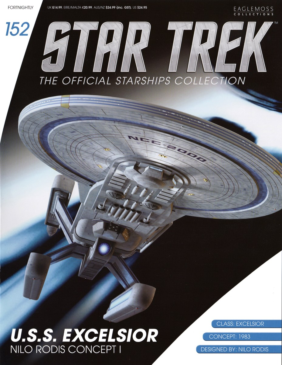 Star Trek The Official Starships Collection 152 Star Trek: The Official Starships Collection #152 U.S.S. Excelsior Prototype Mk I